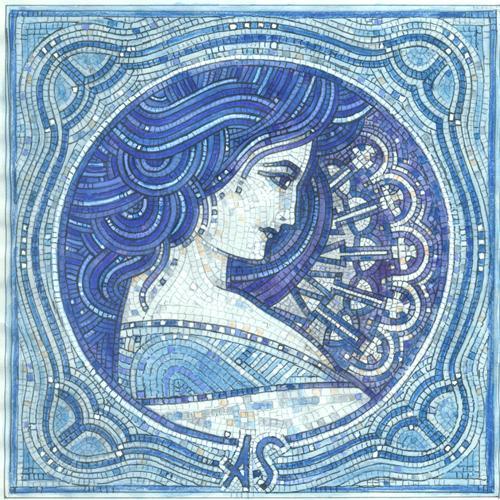 Desen din Mosaic Spart ALFONS-MUHA